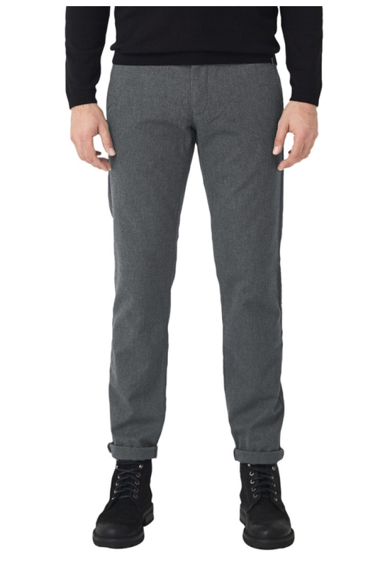 s.Oliver BLACK LABEL - MIT WEBSTRUKTUR - Chinos - anthracite melange