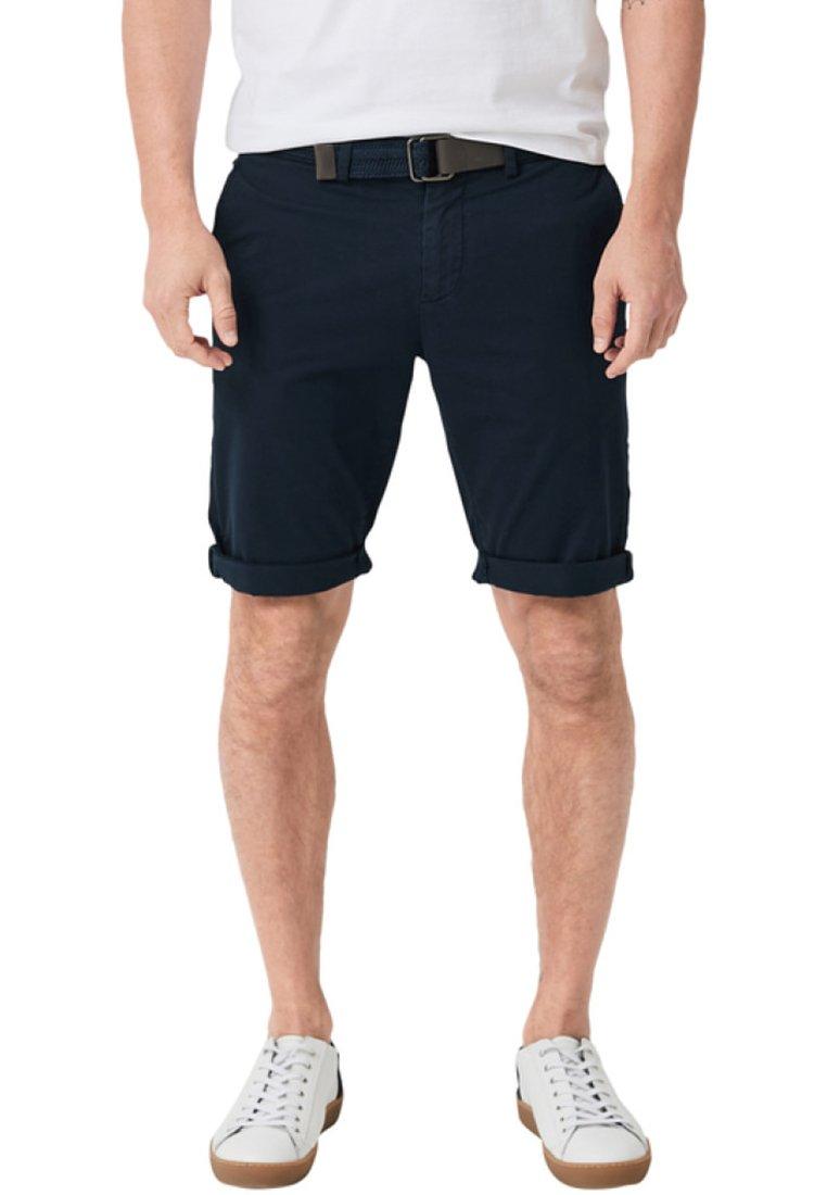 s.Oliver BLACK LABEL - BERMUDA MIT GÜRTEL - Shorts - dark blue