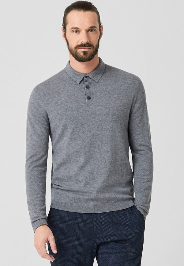 s.Oliver BLACK LABEL - Poloshirt - grey melange