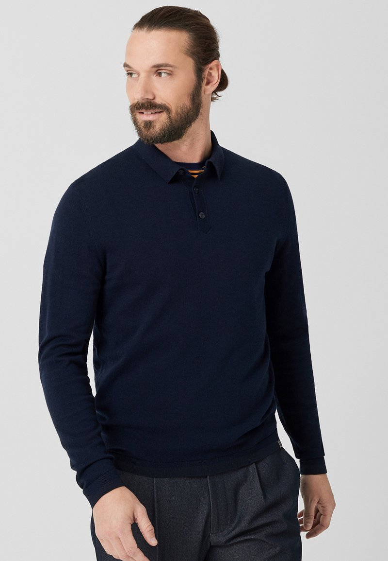 s.Oliver BLACK LABEL - Polo shirt - indigo melange