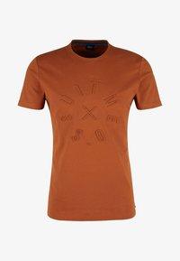 s.Oliver BLACK LABEL - T-Shirt print - copper brown - 4