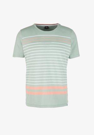 Print T-shirt - light green stripe