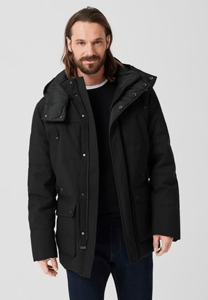 MIT WARMER WATTIERUNG - Winter coat - black