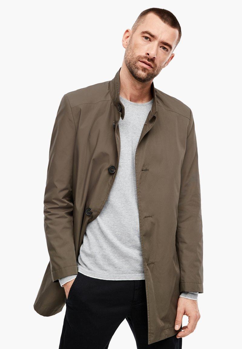 s.Oliver BLACK LABEL - MIT STEHKRAGEN - Short coat - brown