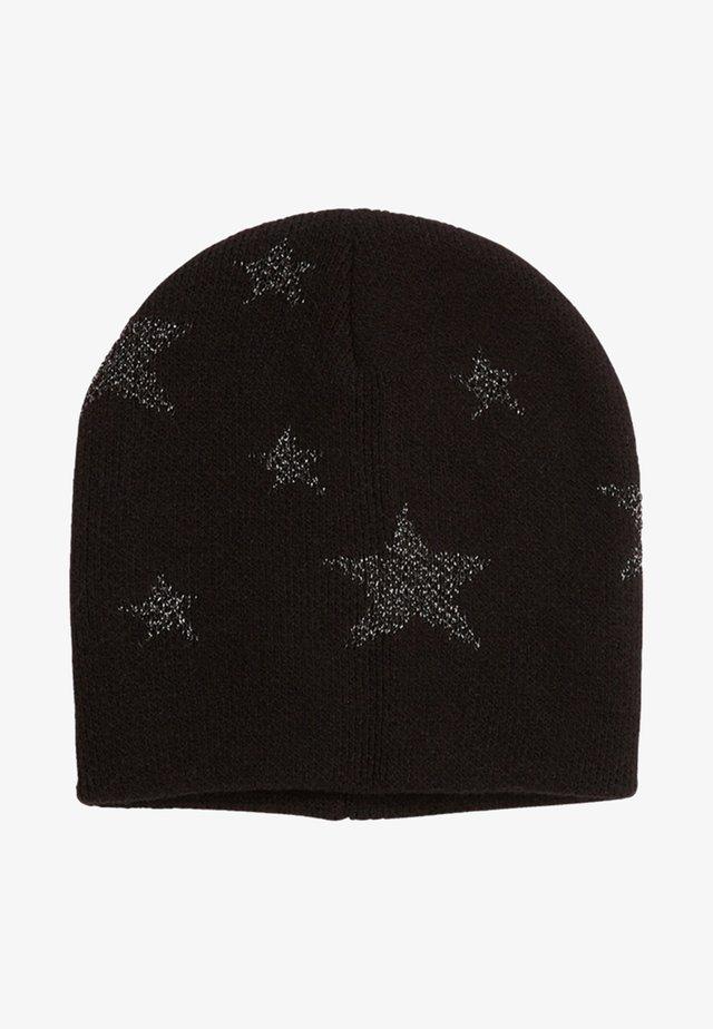 MET STERRENMOTIEF - Mütze - black