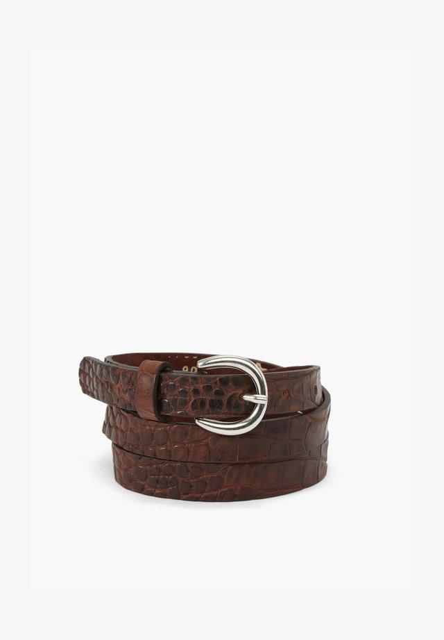 MIT REPTIL-PRÄGUNG - Belt - brown