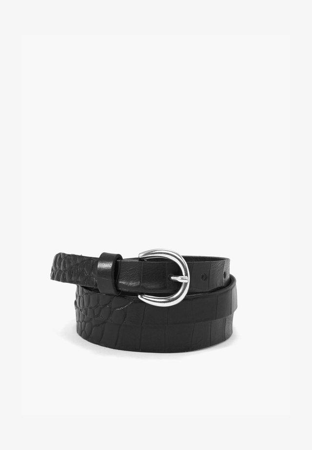 MIT REPTIL-PRÄGUNG - Belt - black