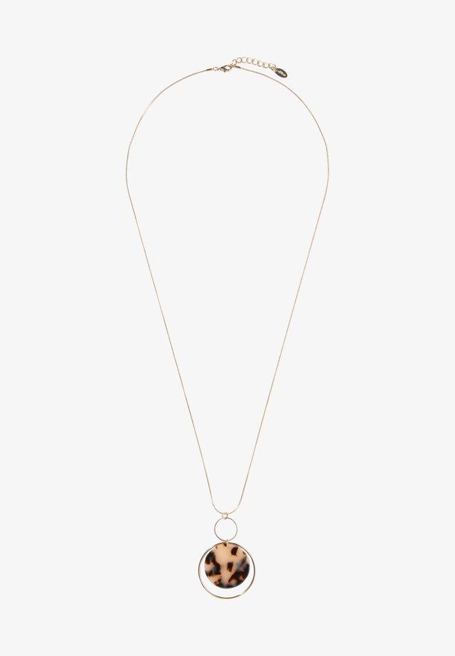 Halskette - gold/brown