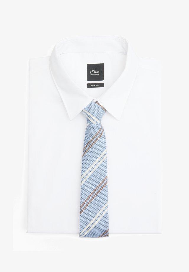 Tie - sky blue stripes