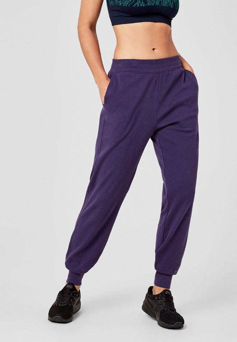 s.Oliver active - Tracksuit bottoms - dark purple