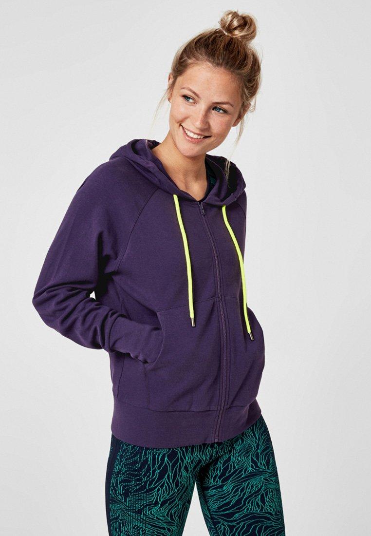 s.Oliver active - MIT KAPUZE - Zip-up hoodie - dark purple