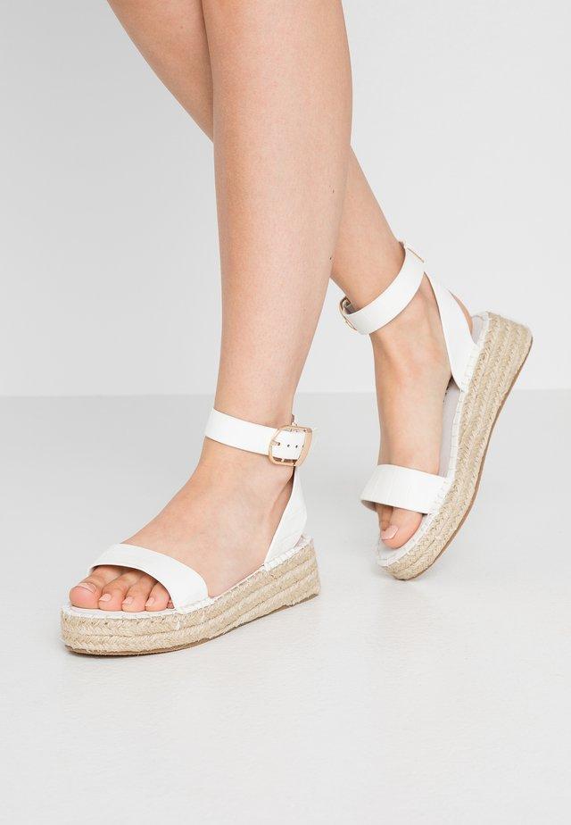 Espadrillos - white