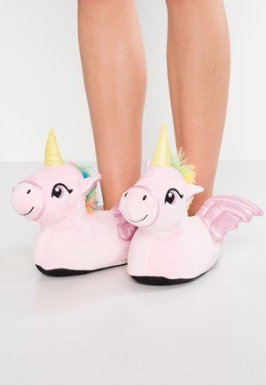 UNICORN SLIPPERS - Slippers - pink
