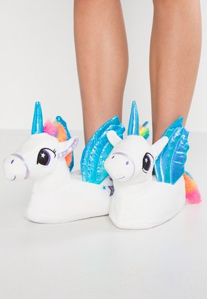 TRIXIE UNICORN TRIM 3D SLIPPER - Slippers - white