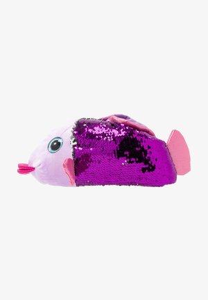 BLUE MULTI SEQUIN FISH SLIPPER - Kapcie - purple