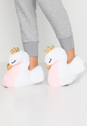 WHITE SWAN SLIPPERS - Pantoffels - white