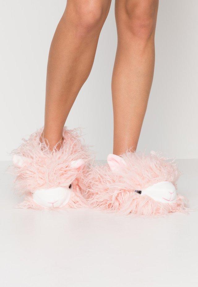 SHAGGY HAIR ALPACA SLIPPER - Hausschuh - pink