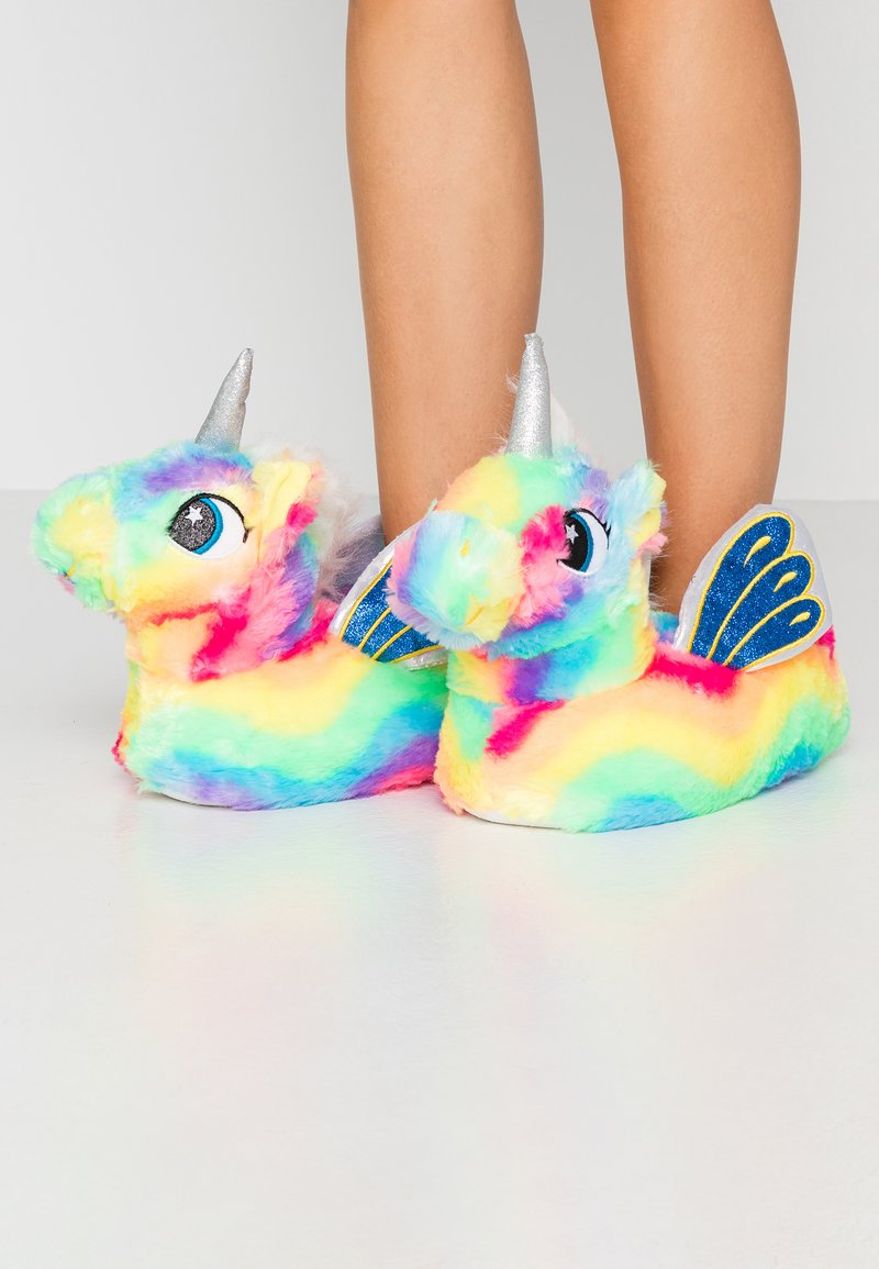 South Beach - RAINBOW FLYING UNICORN SLIPPERS - Pantoffels - multicolor