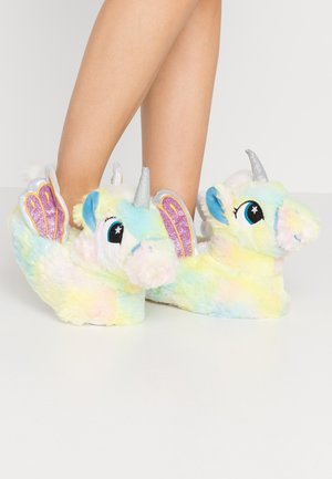 PASTEL RAINBOW FLYING UNICORN SLIPPERS - Slippers - multicolor