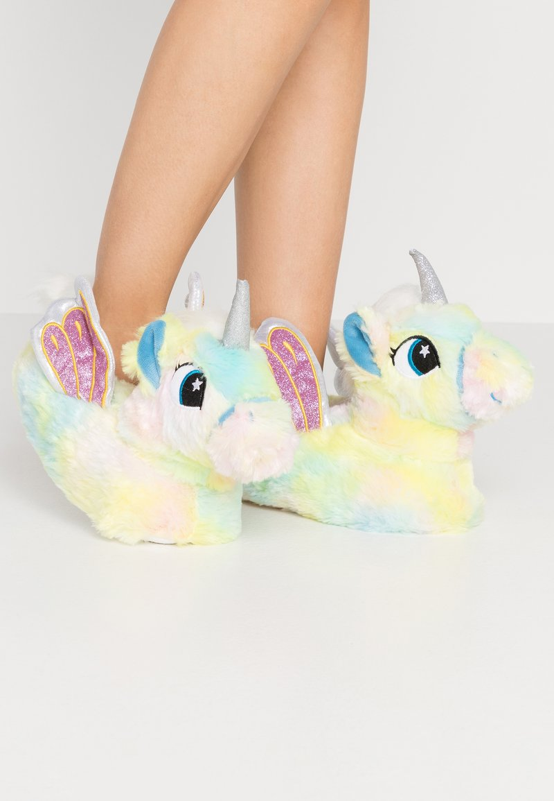 South Beach - PASTEL RAINBOW FLYING UNICORN SLIPPERS - Slippers - multicolor