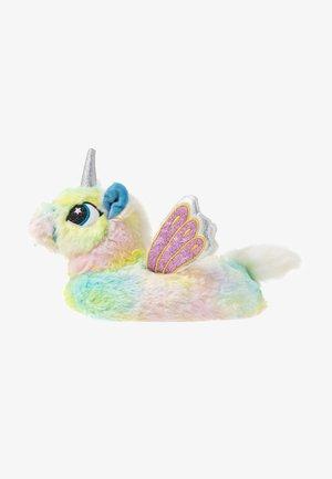 PASTEL RAINBOW FLYING UNICORN SLIPPERS - Hausschuh - multicolor