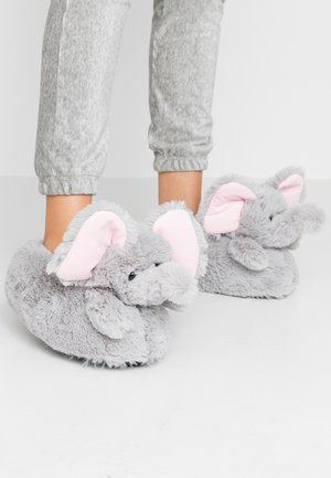 ELEPHANT SLIPPERS - Slippers - grey