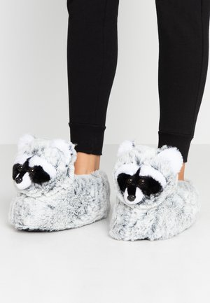 NOVELTY RACOON SLIPPERS - Pantoffels - multicolor