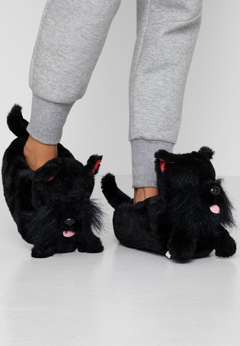 South Beach - BLACK DOG SLIPPERS - Pantoffels - black
