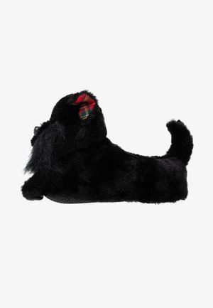 BLACK DOG SLIPPERS - Chaussons - black