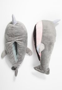 South Beach - NARWHAL SLIPPERS - Pantoffels - grey - 3