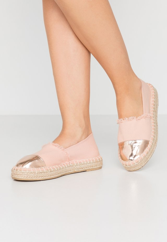 Espadrille - pink/rose gold