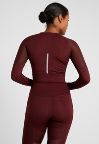 South Beach - LONG SLEEVE INSERT CROP  - T-shirt à manches longues - burgundy - 2