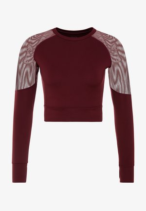 LONG SLEEVE INSERT CROP  - Camiseta de manga larga - burgundy