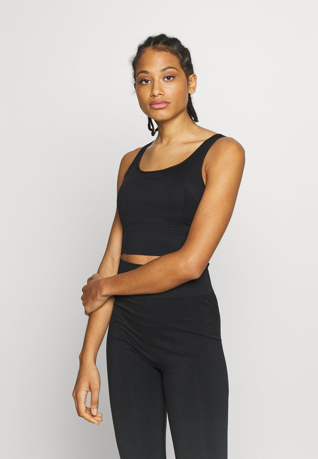 SQUARE NECK TOPCUT SEW - Sport BH - black