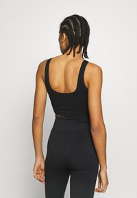 South Beach - SQUARE NECK TOPCUT SEW - Urheiluliivit - black - 2