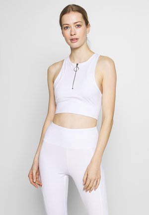 ZIP CROP - Toppe - white