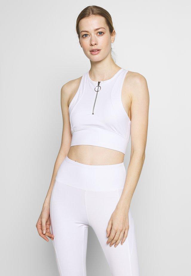 ZIP CROP - Top - white