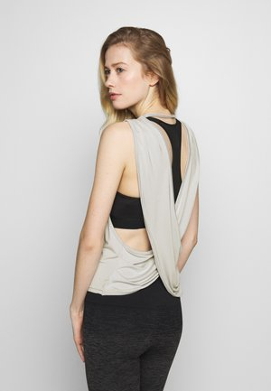 YOGA WRAP TOP - Top - lunar grey