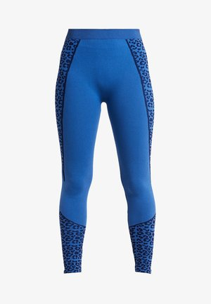 HIGH WAIST LEGGING - Medias - blue