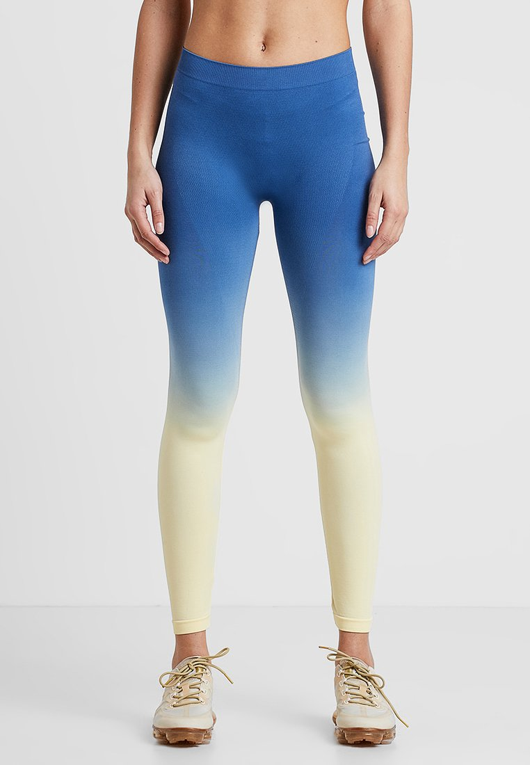 South Beach - GRADIENT HIGH WAIST - Leggings - yellow/blue