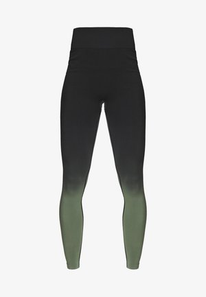 GRADIENT HIGH WAIST - Legging - green