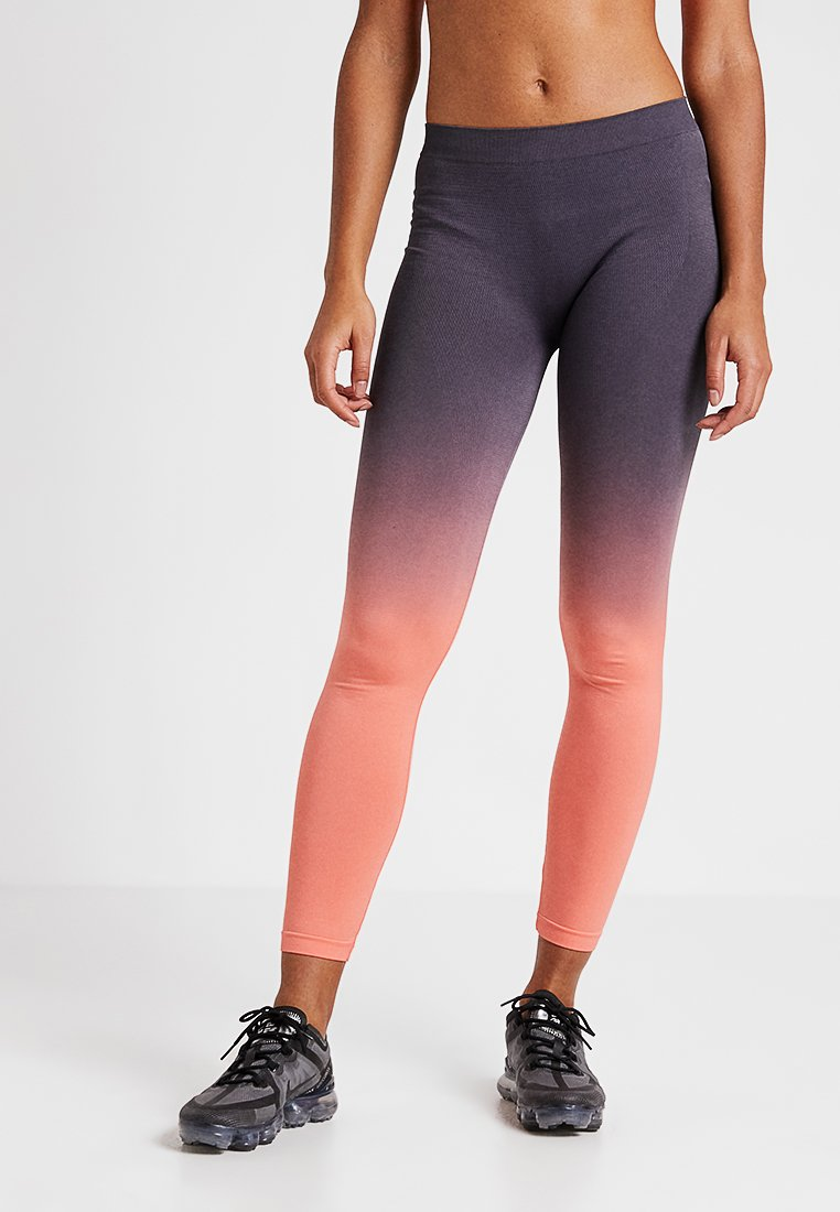 South Beach - GRADIENT HIGH WAIST LEGGING - Tights - orange/grey