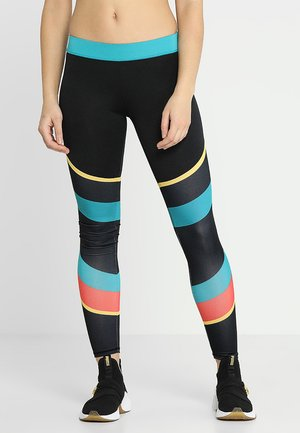 COLOURBLOCK GYM LEGGING - Punčochy - black