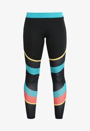 COLOURBLOCK GYM LEGGING - Tights - black