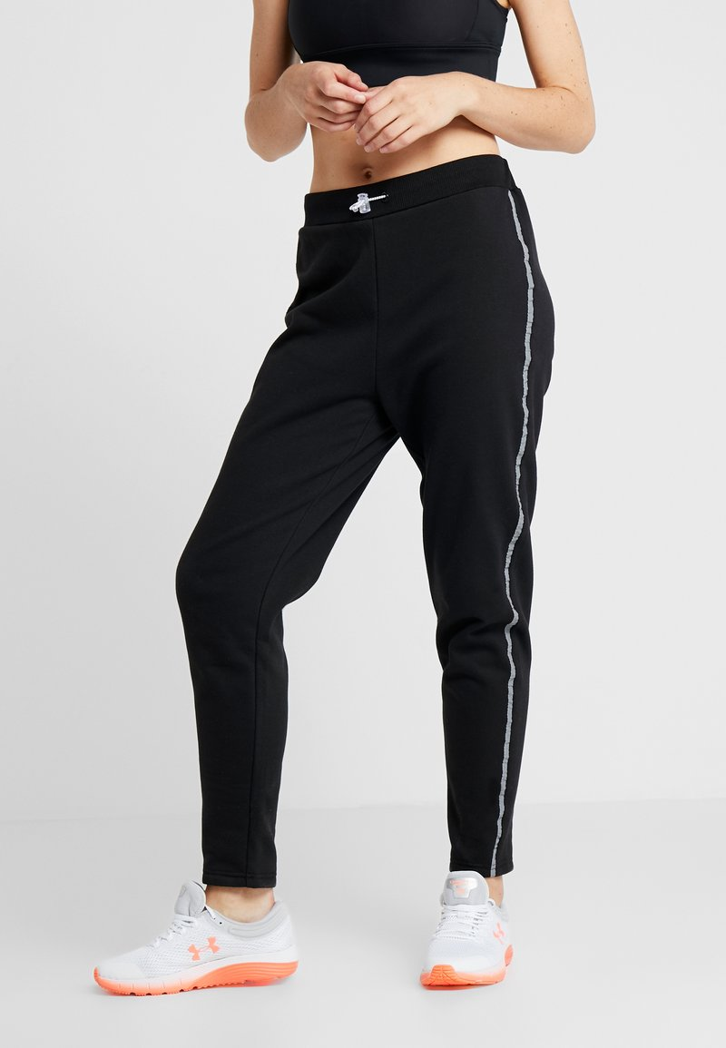 South Beach - REFLECTIVE SPORTS STRIPE - Tracksuit bottoms - black