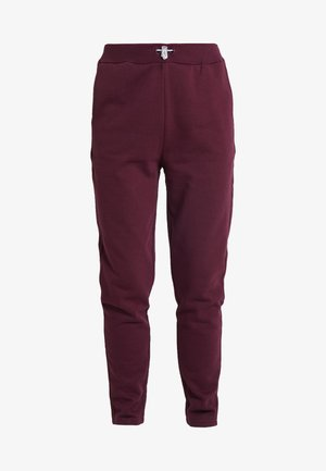 REFLECTIVE TIE - Tracksuit bottoms - burgundy