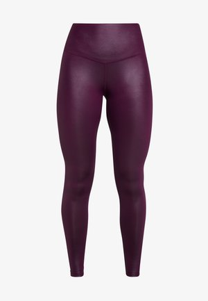 WETLOOK HIGHWAIST - Collant - burgundy