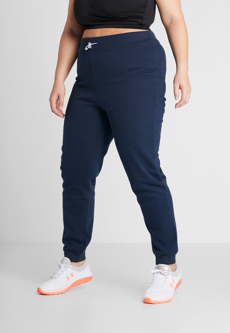South Beach - CURVE REFLECTIVE TOGGLE - Tracksuit bottoms - navy