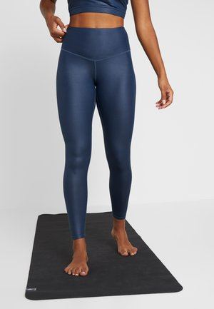 WETLOOK HIGHWAIST - Legginsy - navy