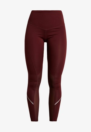 INSERT HIGHWAIST LEGGING - Collant - burgundy